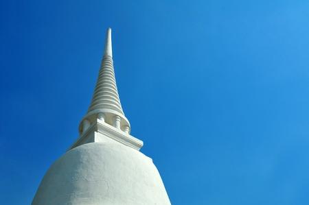 white Pagoda with blue sky
