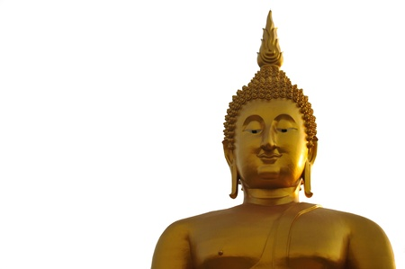 Golden Buddha with isolate
