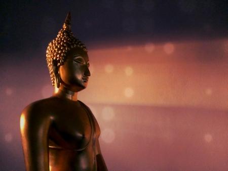 golden Buddha with evening light