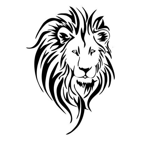 Illustration pour Lion head tattoo  - image libre de droit