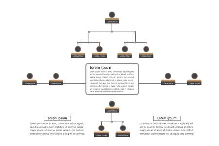 Illustration pour Organization Chart Infographics - image libre de droit