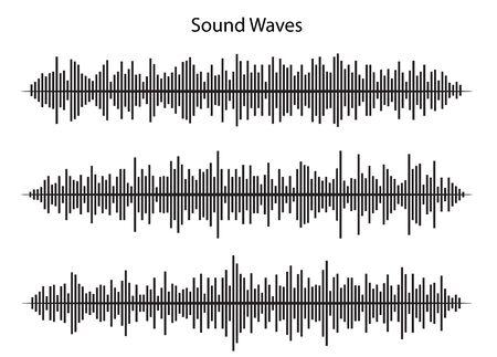 Illustration pour sound waves, vctor design - image libre de droit
