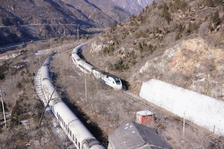 shot of train in commute