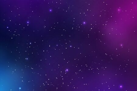 Illustration pour Beautiful Space Background Vector Full of dust and glittering stars in the galaxy. - image libre de droit