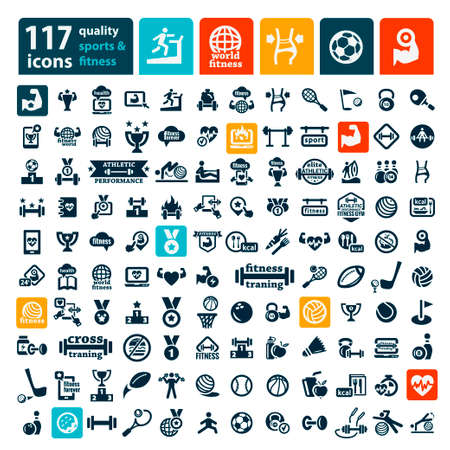 Fitness and Sport icons for web and mobile.