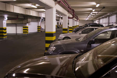 Underground parking in apartment house in Moscow