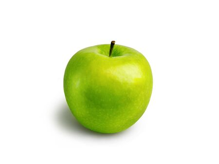 Photo for Fresh green Apple on a white isolated background - Royalty Free Image