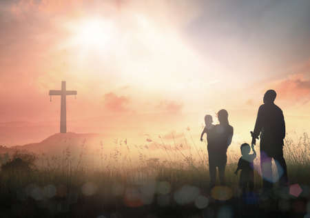 Foto per Family worship concept - Immagine Royalty Free
