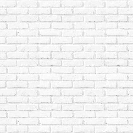Photo for Bathroom pattern concept: Seamless vertical white brick wall texture background - Royalty Free Image