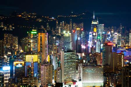 night view of Hong Kong Island