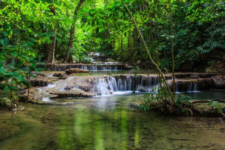 The Erawan Waterfall , Kanchanaburi ,  Thailand