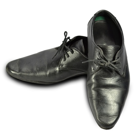 male black elegant shoe on white