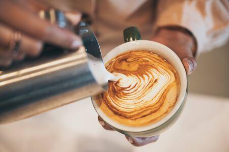 Photo pour coffee latte art, coffee cup - image libre de droit