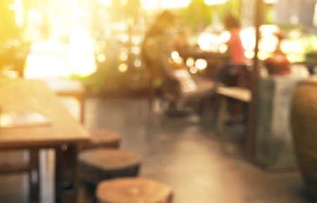 Photo pour coffee shop blur style for background - image libre de droit