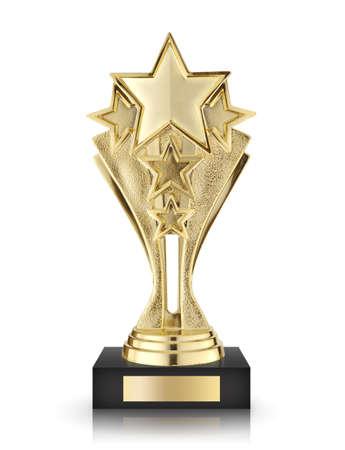 star awards isolated on white background