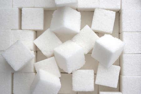 close up of sugar cubes