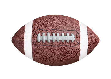 Photo for American football isolated on white background. Clipping path - Royalty Free Image