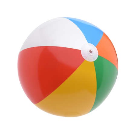 Foto de Beach ball isolated on a white background - Imagen libre de derechos