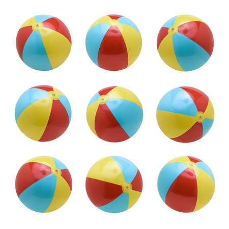 Photo pour Beach balls set isolated on white background - image libre de droit