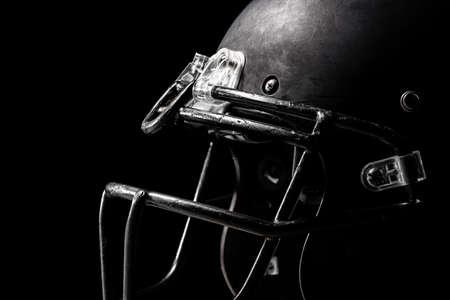 Photo for Football helmet on black background. - Royalty Free Image