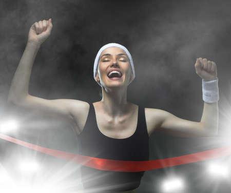 Athlete celebrates victory