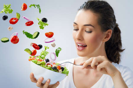 Foto für A beautiful girl eating healthy food - Lizenzfreies Bild
