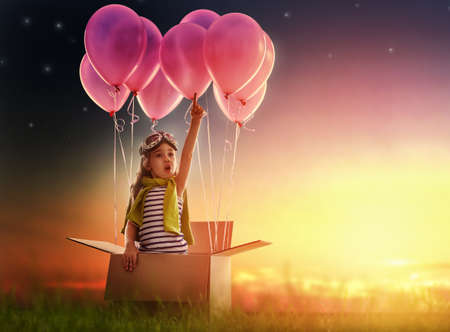 Photo for child to prepare for the trip - Royalty Free Image