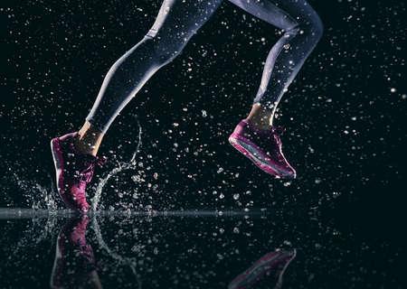 Photo pour athletes foot close-up. healthy lifestyle and sport concepts. - image libre de droit