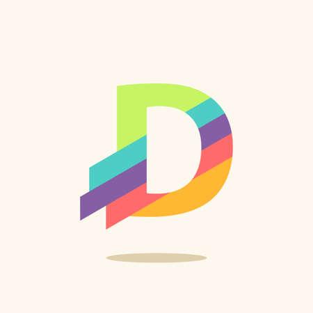 Illustration pour Letter D logo icon design template elements - image libre de droit