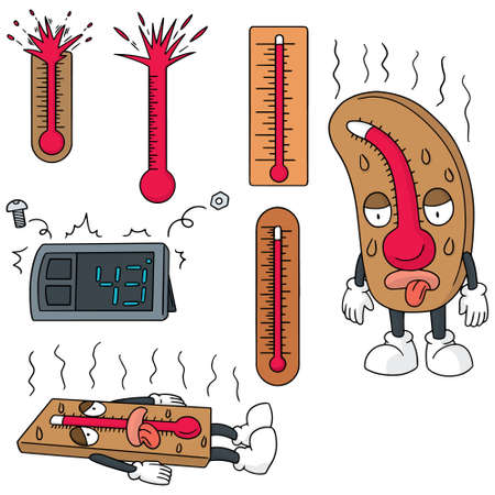 Illustration for vector set of thermometer - Royalty Free Image