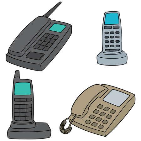 Illustration pour set of telephone - image libre de droit