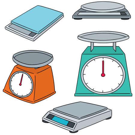 Ilustración de vector set of weighing machine - Imagen libre de derechos