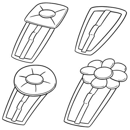 vector set of hairpin black and white