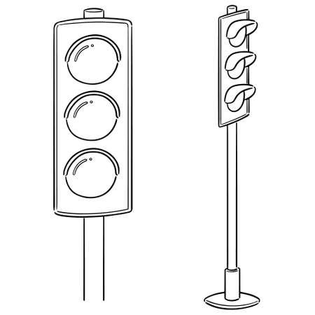 Illustration for vector set of traffic light - Royalty Free Image