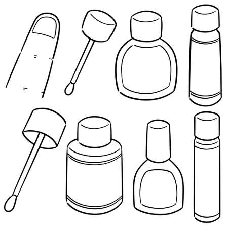Illustration for vector set of nail polish - Royalty Free Image
