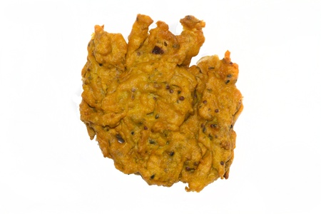 onion bhaji isolated on a white background