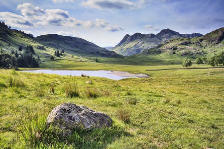 blea tarn in the lake district cumbria UK