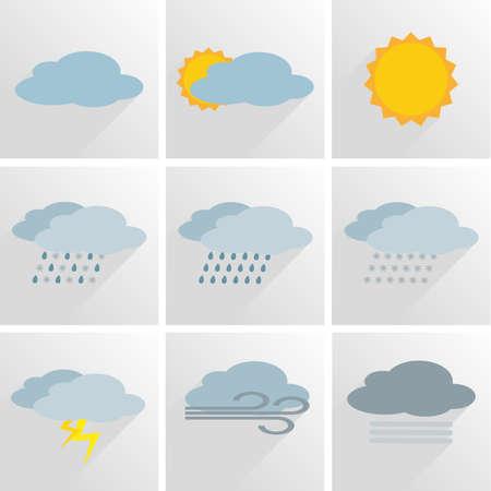 Illustration pour simple weather icon symbol set vector illustration - image libre de droit