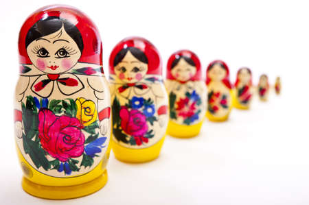 Photo pour Russian Dolls - image libre de droit