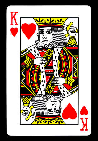 The King of Hearts Playing Card