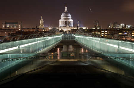 A view of St Pauls Cathedral from the Millennium Bridge