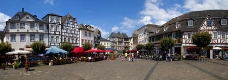 Town Square in Linz am Rhein in Germany