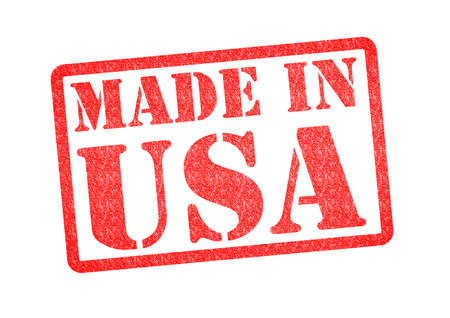 MADE IN USA Rubber Stamp over a white background
