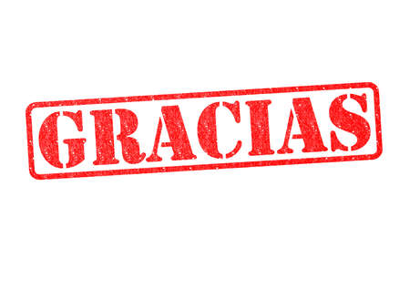 GRACIAS Rubber Stamp over a white background