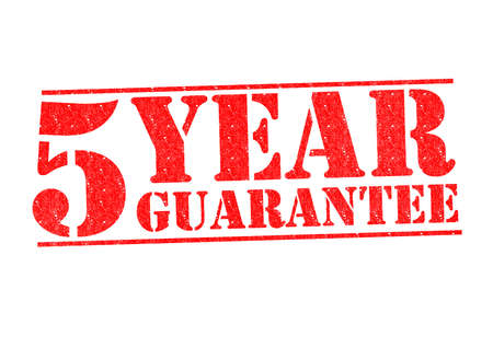 5 YEAR GUARANTEE Rubber Stamp over a white background.