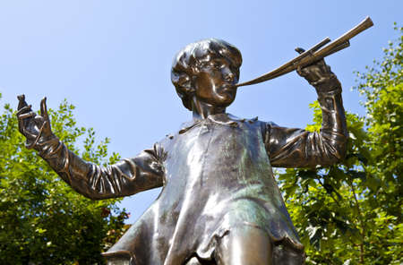 The famous Peter Pan statue in Kensington Gardens, London.