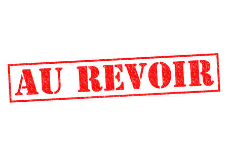 AU REVOIR Rubber Stamp over a white background.