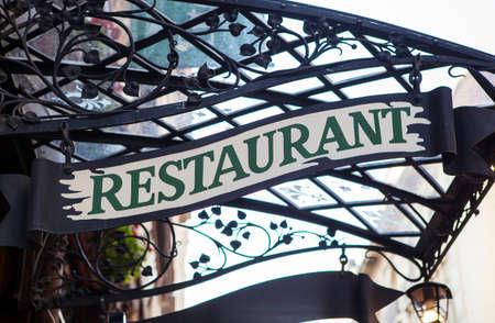 A generic restaurant sign.