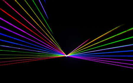 Photo pour Colorful Laser effect over a plain black background. - image libre de droit