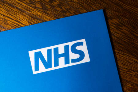Foto für London, UK - November 14th 2018: A close-up of the NHS - National Health Service logo, pictured on an information leaflet. - Lizenzfreies Bild